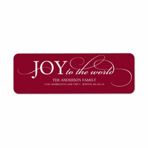 JOY TO THE WORLD | HOLIDAY ADDRESS LABELS   Click on photo to purchase. Check out all current coupon offers and save! http://www.zazzle.com/coupons?rf=238785193994622463&tc=pin