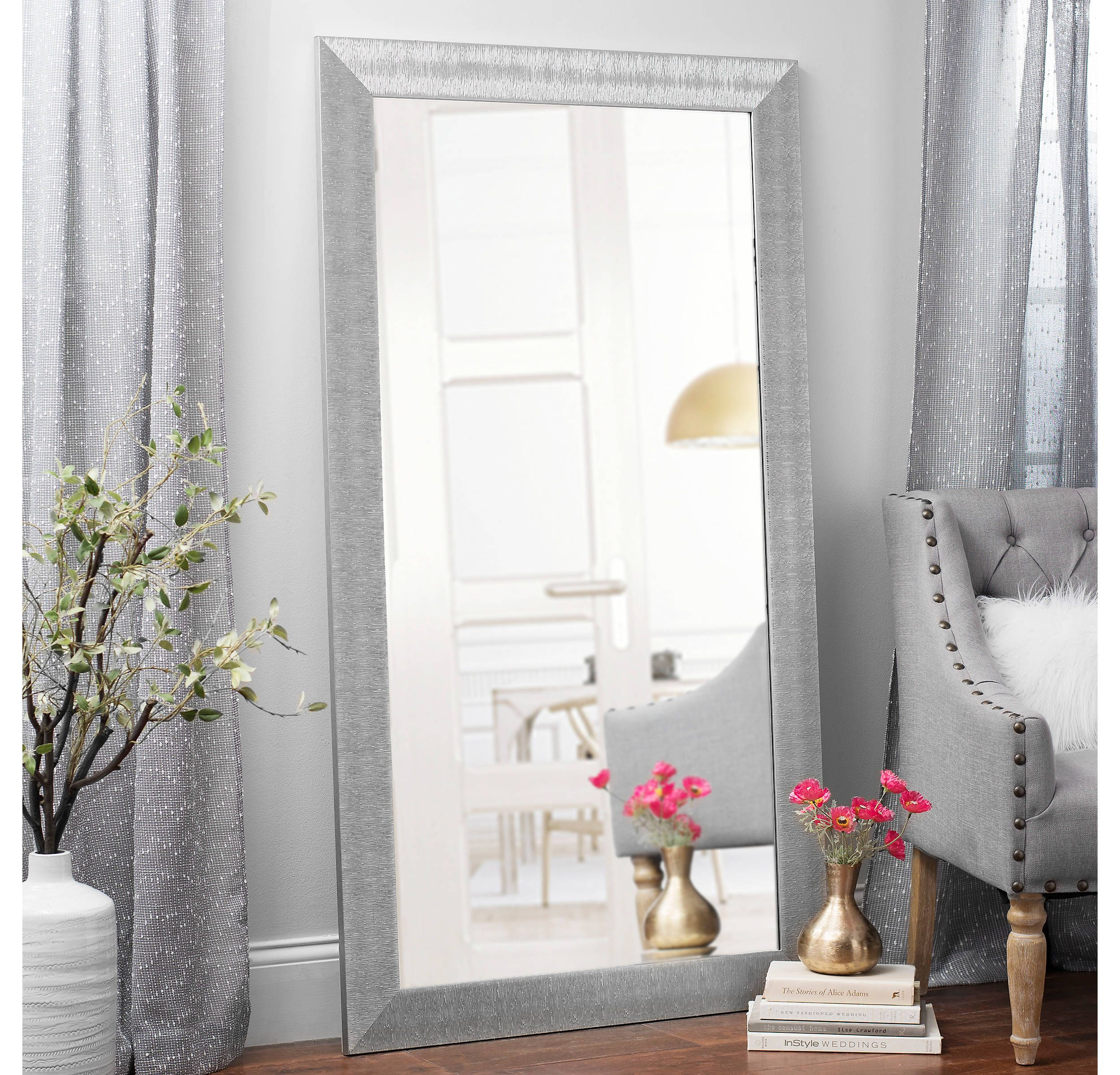 Kirkland S Silver Framed Mirror Living Room Mirrors Living Decor