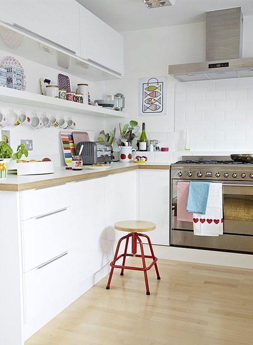 Blanca Idees casa Pinterest Cocinas blancas, Cocina blanca y Luces
