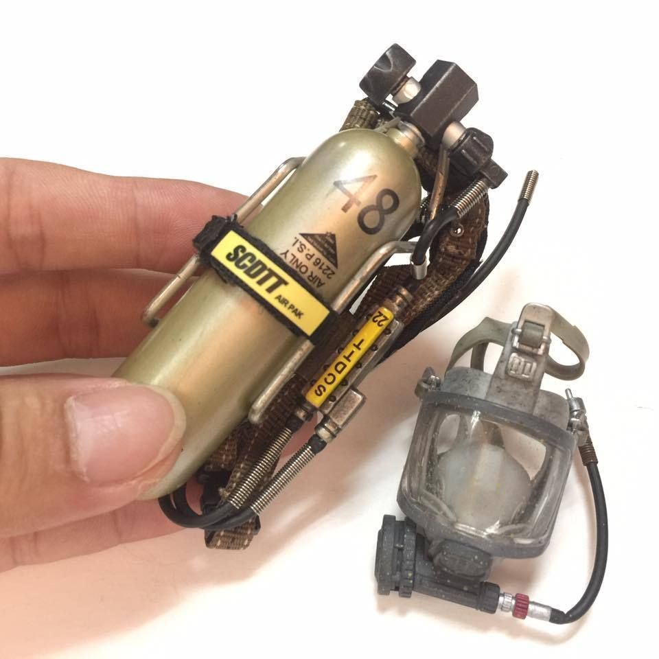 hight resolution of 1 6 scale hot toys firefighter self contained breathing apparatus scba set b phantomgreen