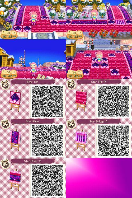 Animal Crossing New Leaf Qr Codes Cute Pathways Crosses 3ds Leaf