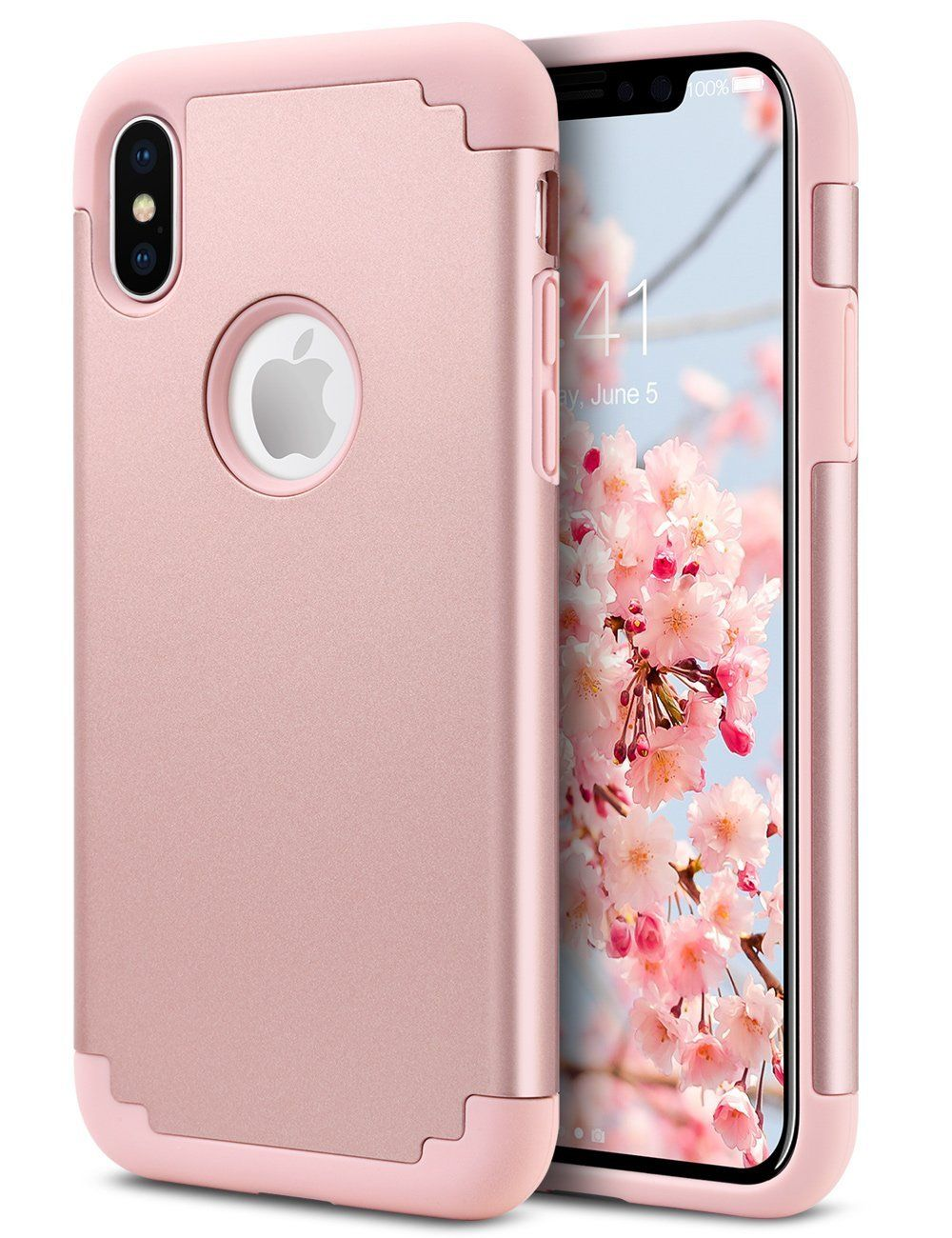 Iphone X Case Pretty Iphone X Case For Girls Ulak Slim Fit Protective Hybrid Flexible Soft Rubber Silico Rose Gold Iphone Case Iphone Iphone Cases For Girls