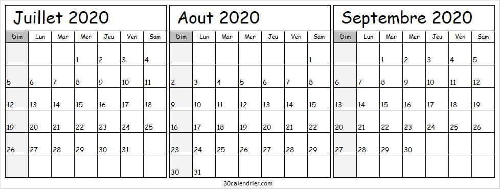 Calendrier Juin Juillet Aout Septembre 2021 Calendrier Juillet Aout Septembre 2020 Avec Semaine   Tumblr in 2020