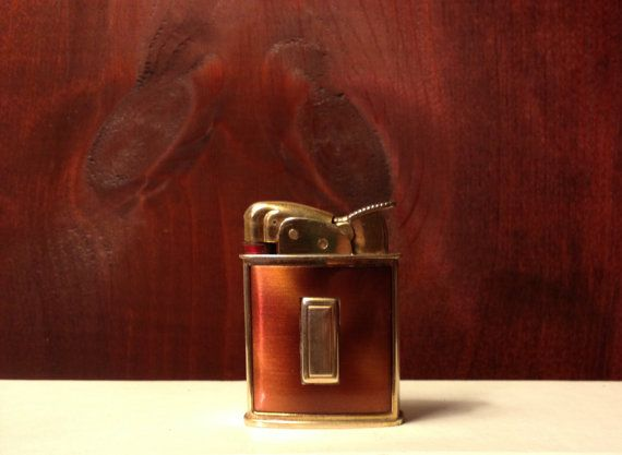 Working 1940s Art Deco Evans Tortoise Cigarette Lighter with Gold Cartouche  by TheLeafery, $75.00
