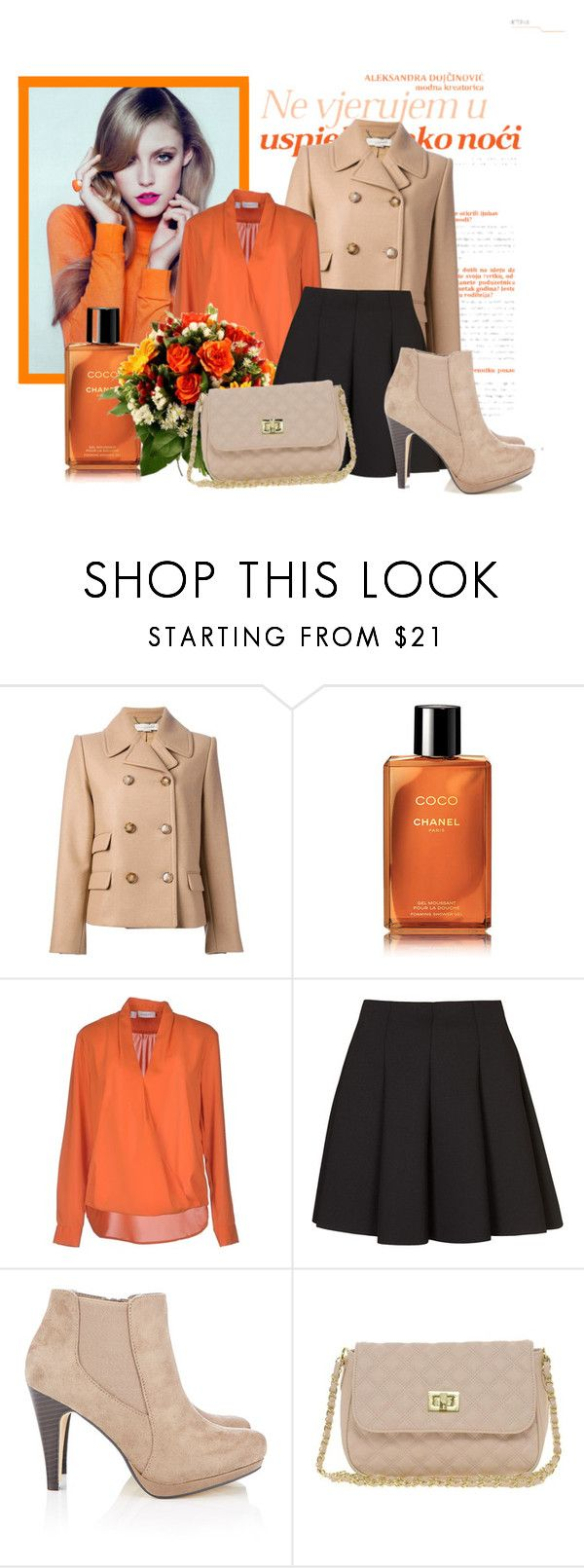 """Be Bold in Orange"" by alex-begg ❤ liked on Polyvore featuring Retrò, STELLA McCARTNEY, Chanel, Zanetti 1965, Topshop, Wallis and ASOS"