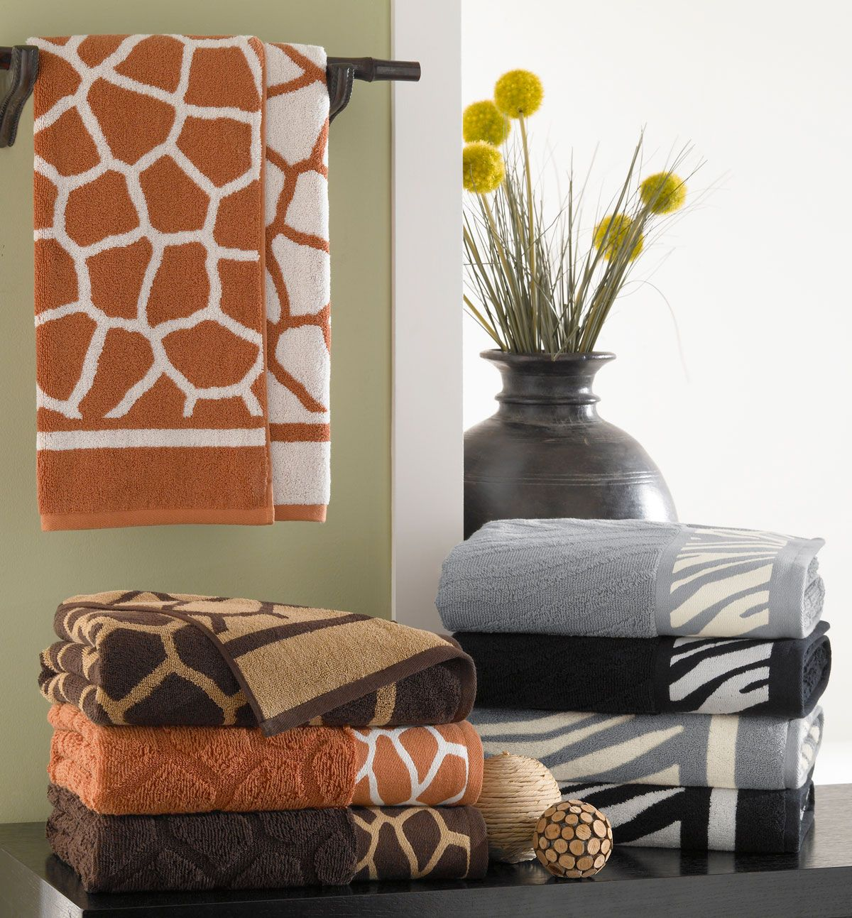 Giraffe Bathroom Sets Giraffe 100 Fine Cotton Jacquard Towels