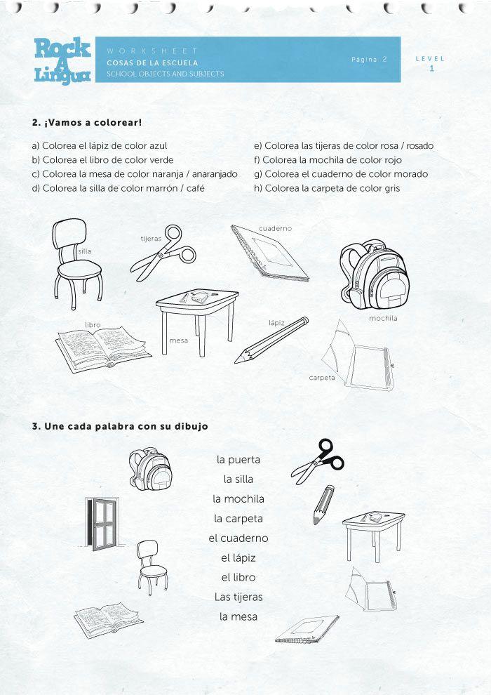 School objects and subjects   ¡¡¡Mi salón de claseeee!!!   Spanish ...