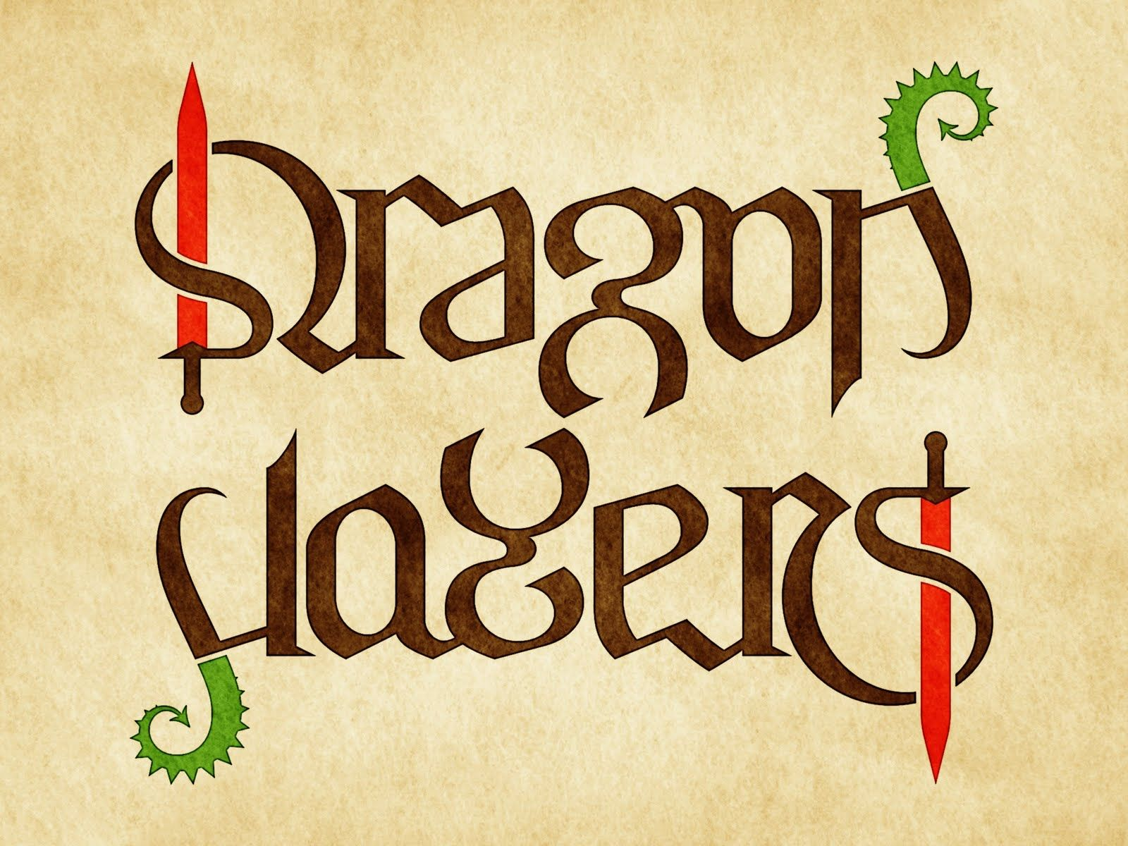 Ambigram dragon slayers