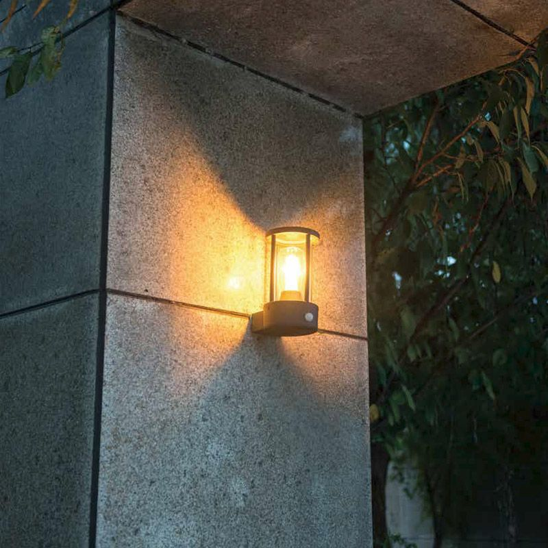 Applique D'extérieur De Lanterne Murale Détecteur Mouvement Moderne FTJlK1c