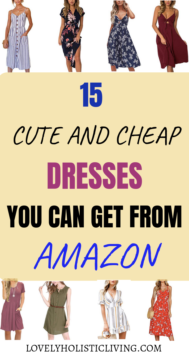6ad97705a342 These dresses from Amazon are so cute and cheap!!  casual  dresses  spring   dresses  summer  dresses  vacation  ideas