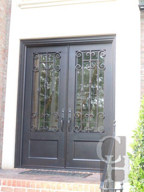 Iron Double Door Clark Hall Iron Doors Charlotte Nc The