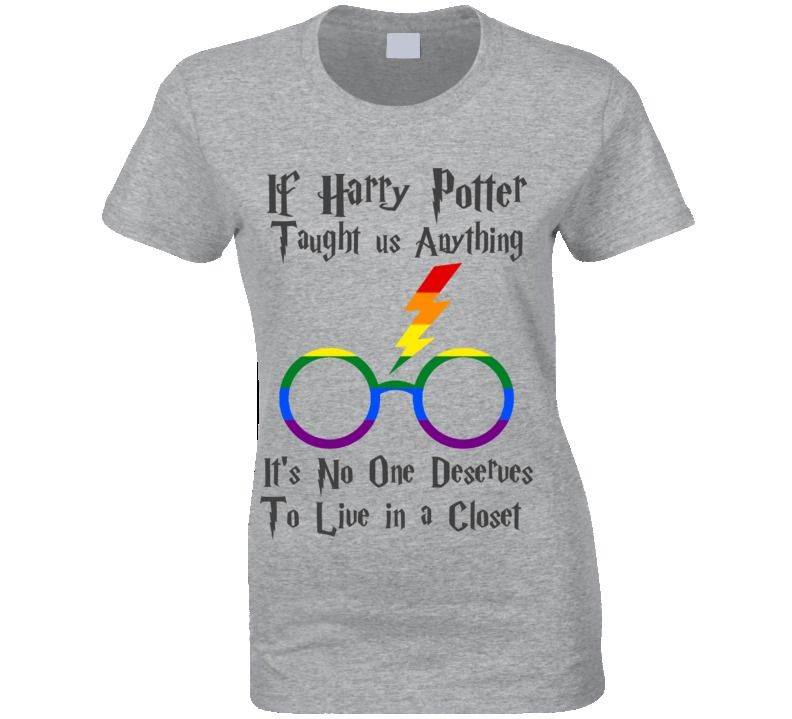 No One should live in a Closet T-shirt Harry Fun Gay libre gay amour Potter