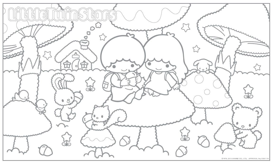 Littletwinstars Kiki Lala Coloring Book Art Disney Princess Coloring Pages Cartoon Coloring Pages