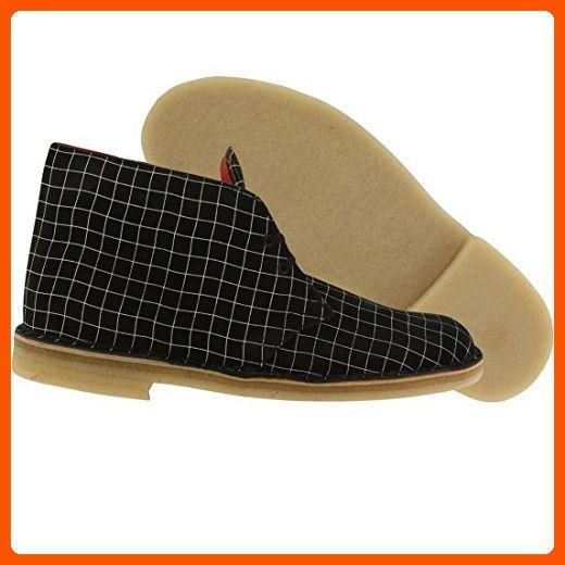 354fb247cf035 Clarks Originals Men's Black/White Grid Desert Boot 8 B(M) US - Mens ...