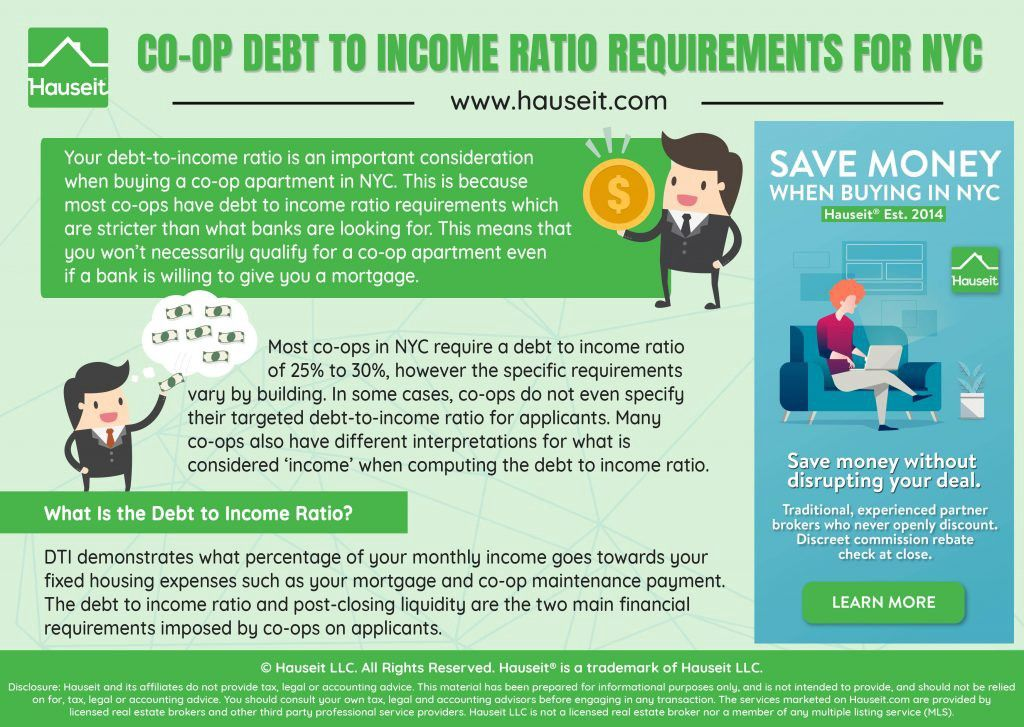 What Are The Debt To Income Dti Ratio Requirements For A Nyc Co