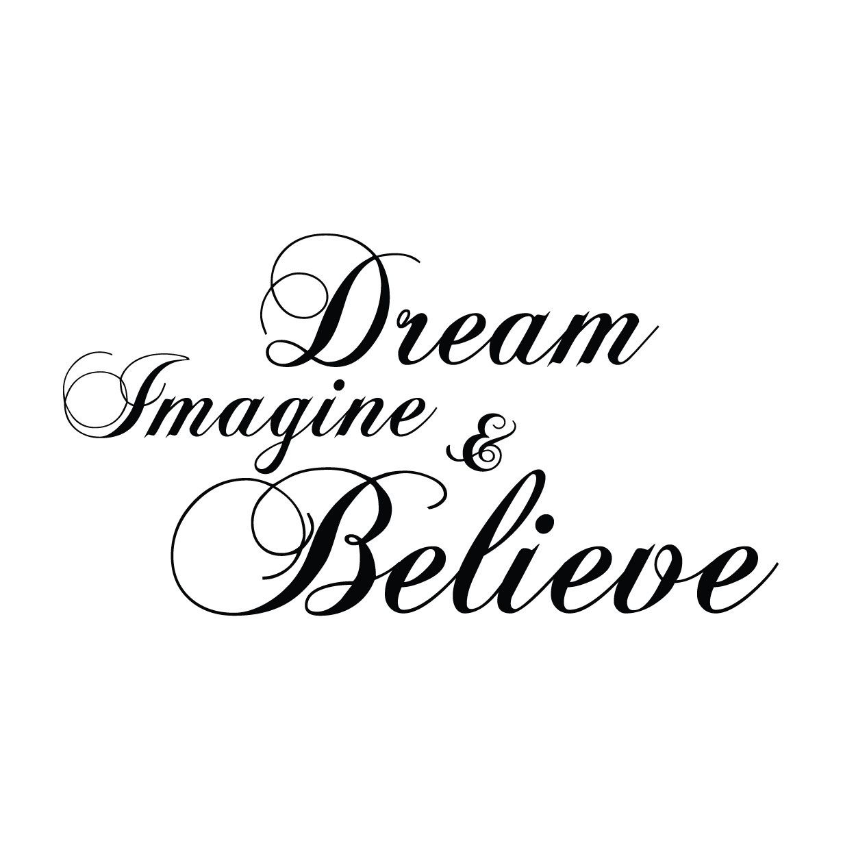 Wall Decal Sticker Bedroom Decor Believe In Yourself Quote Lettering Art bo2511