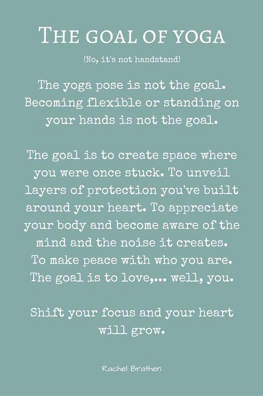 The goal of yoga