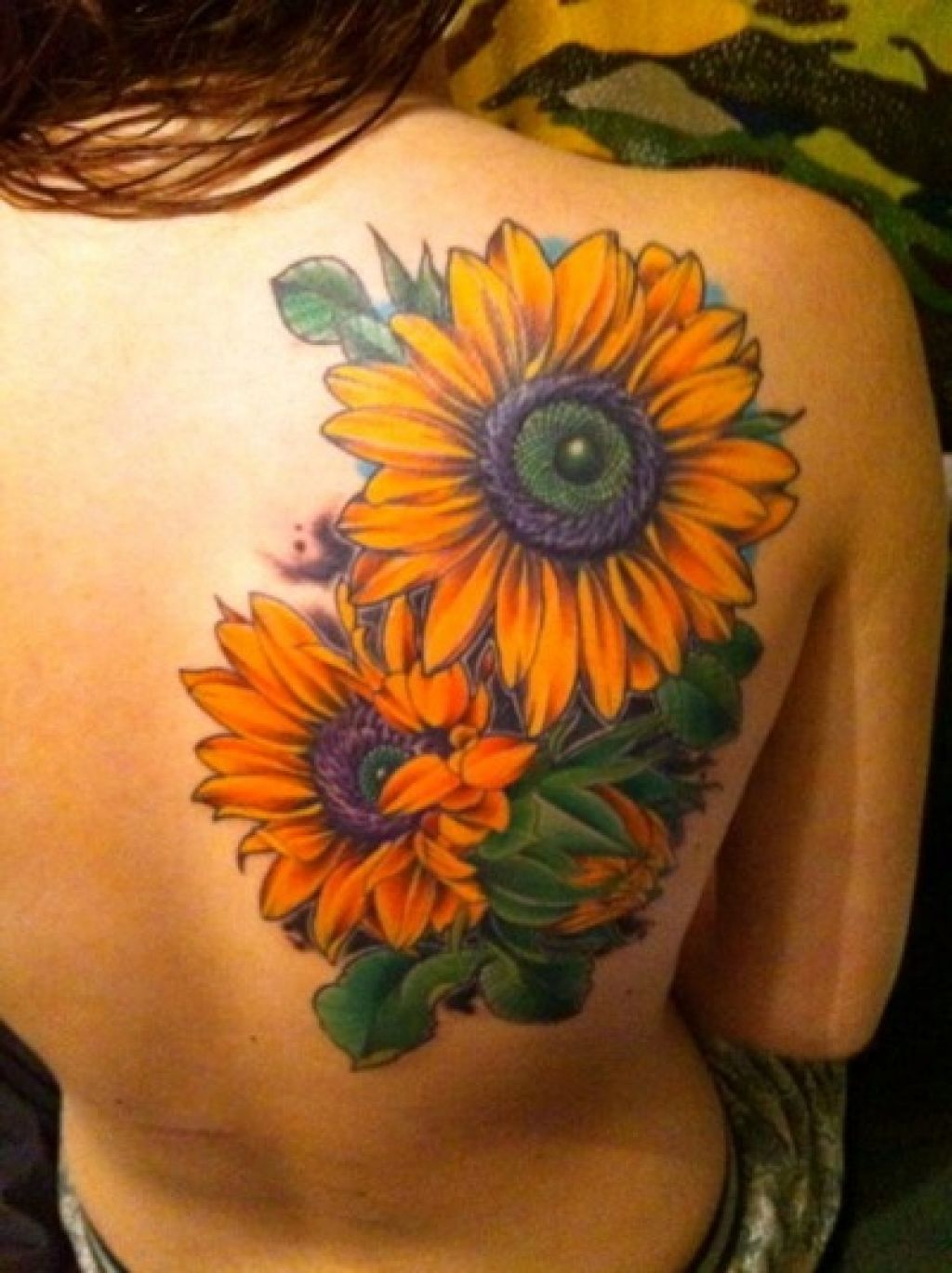 colorful sunflower tattoos for ladies - tattoo art collection