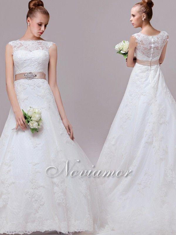 Romance Princess Lace Vintage Wedding Dresses With Illusion Back ...