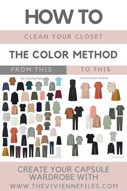 How to Clean Out Your Closet - the Color Method - The Vivienne Files