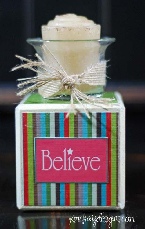 Christmas Gifts--Candle Block Nice, Christmas blocks and Wrapped