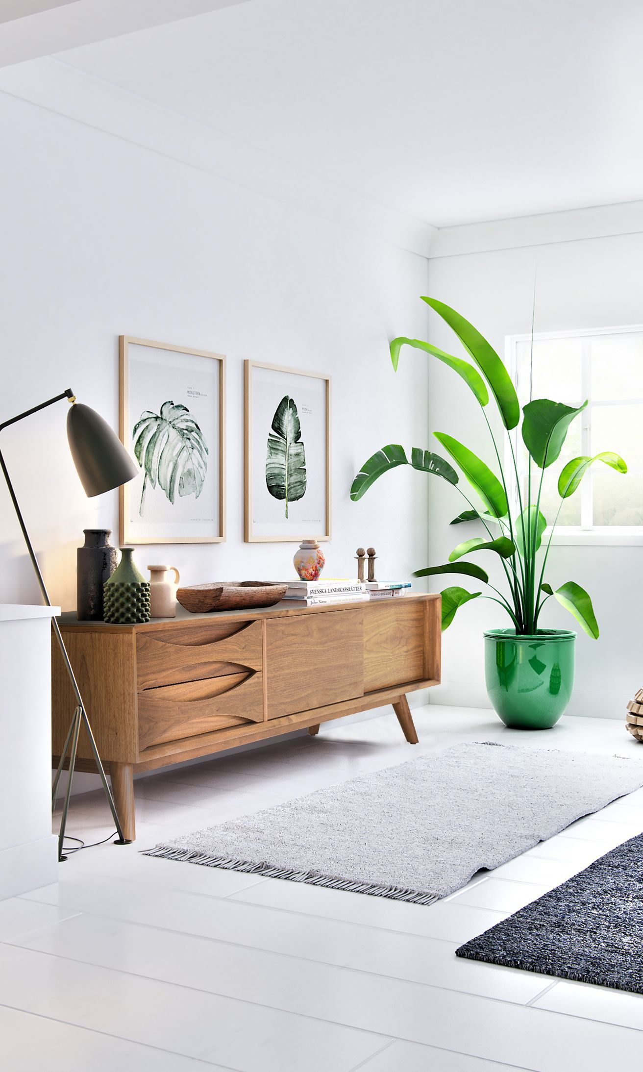 The Flemming TV Stand Is A Mid-century Modern Design. Its