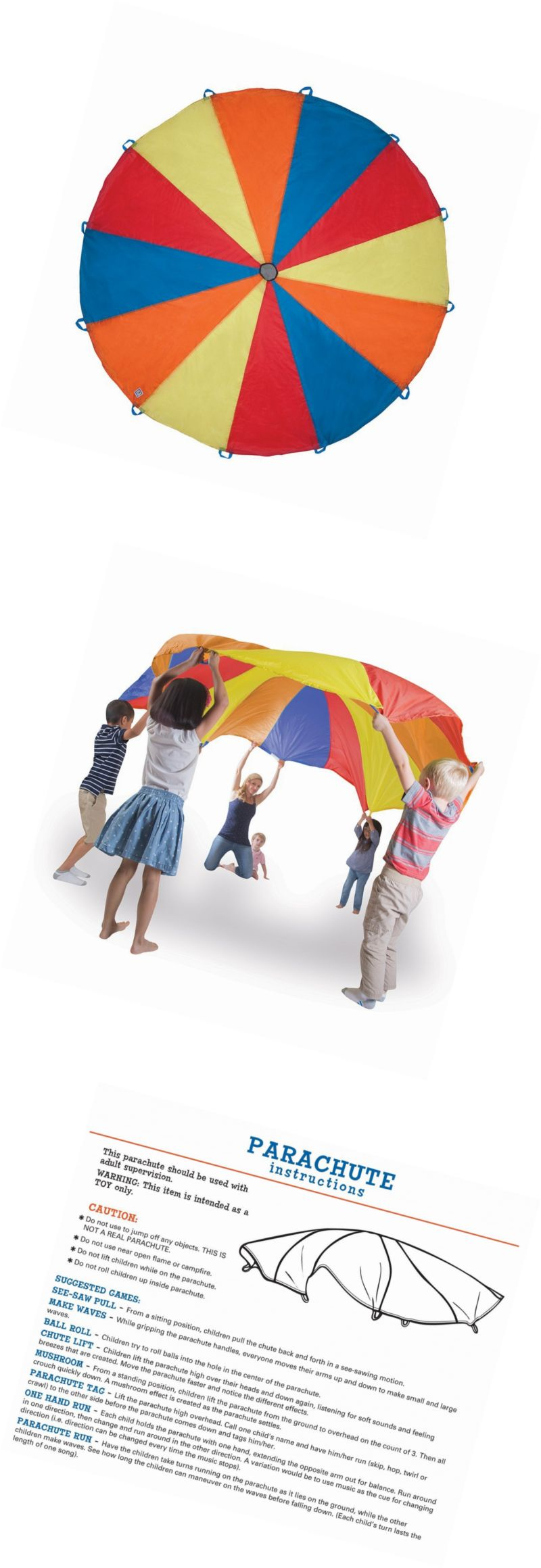 Parachutes 146000 Pacific Play Tents Kids Playchute Ii 10 Foot Parachute For Indoor Outdoor Fun  sc 1 st  Pinterest & Parachutes 146000: Pacific Play Tents Kids Playchute Ii 10 Foot ...
