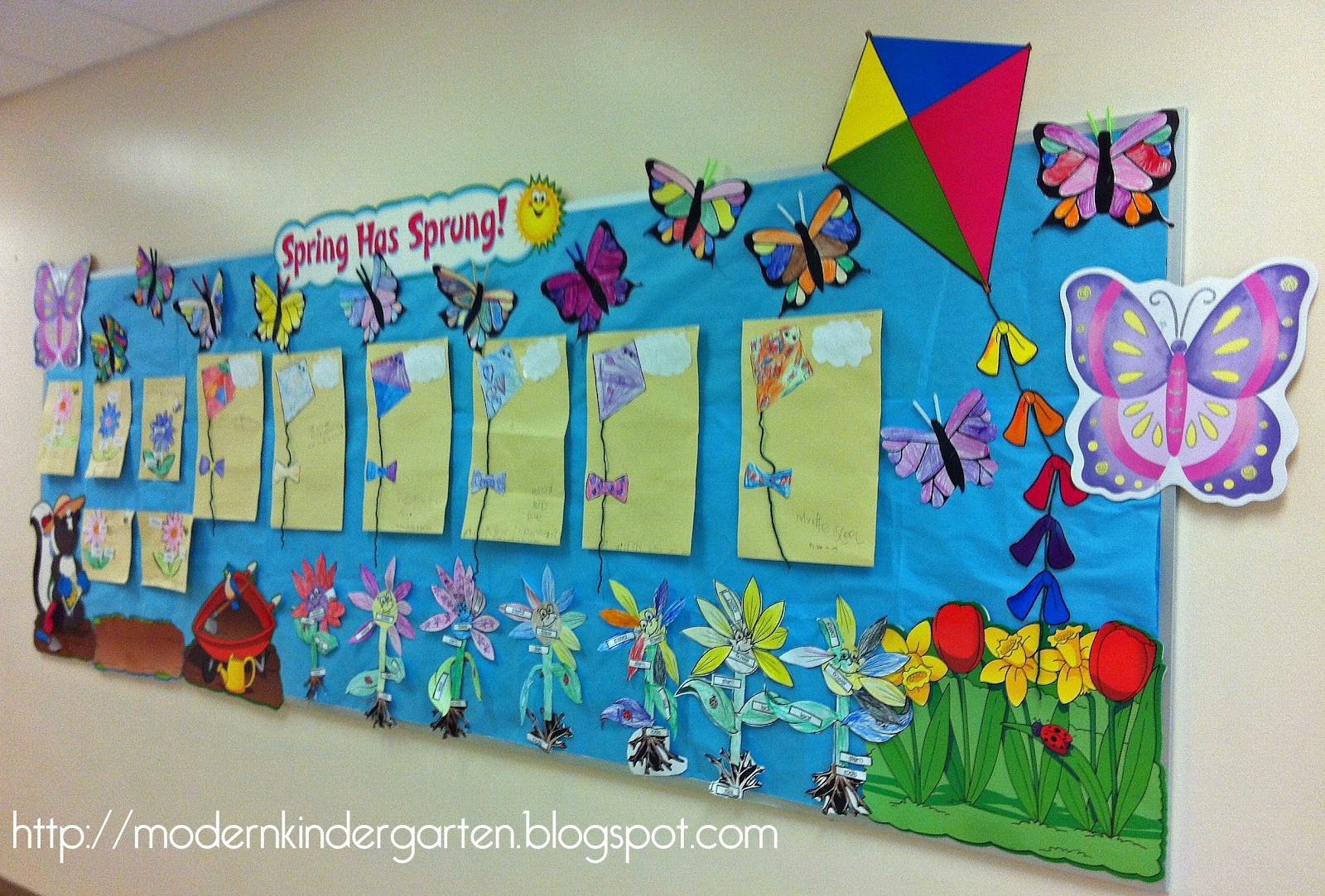 Butterfly Classroom Decorations : Quot spring has sprung using butterflies kites and flowers