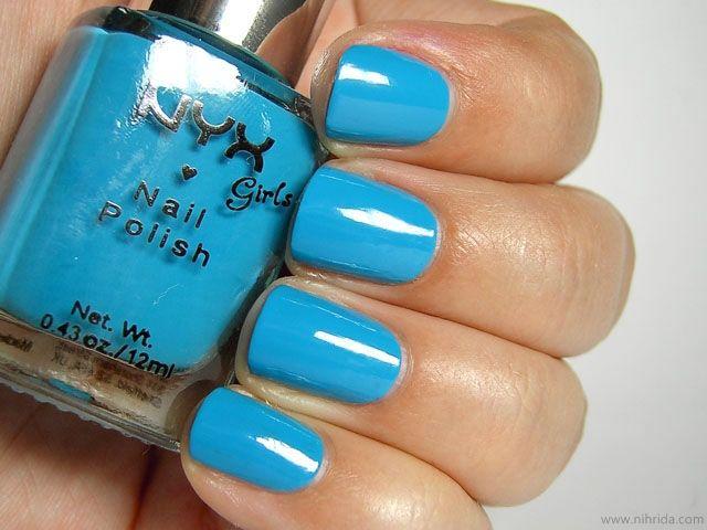 Nyx S Nail Polish In Hot Blue