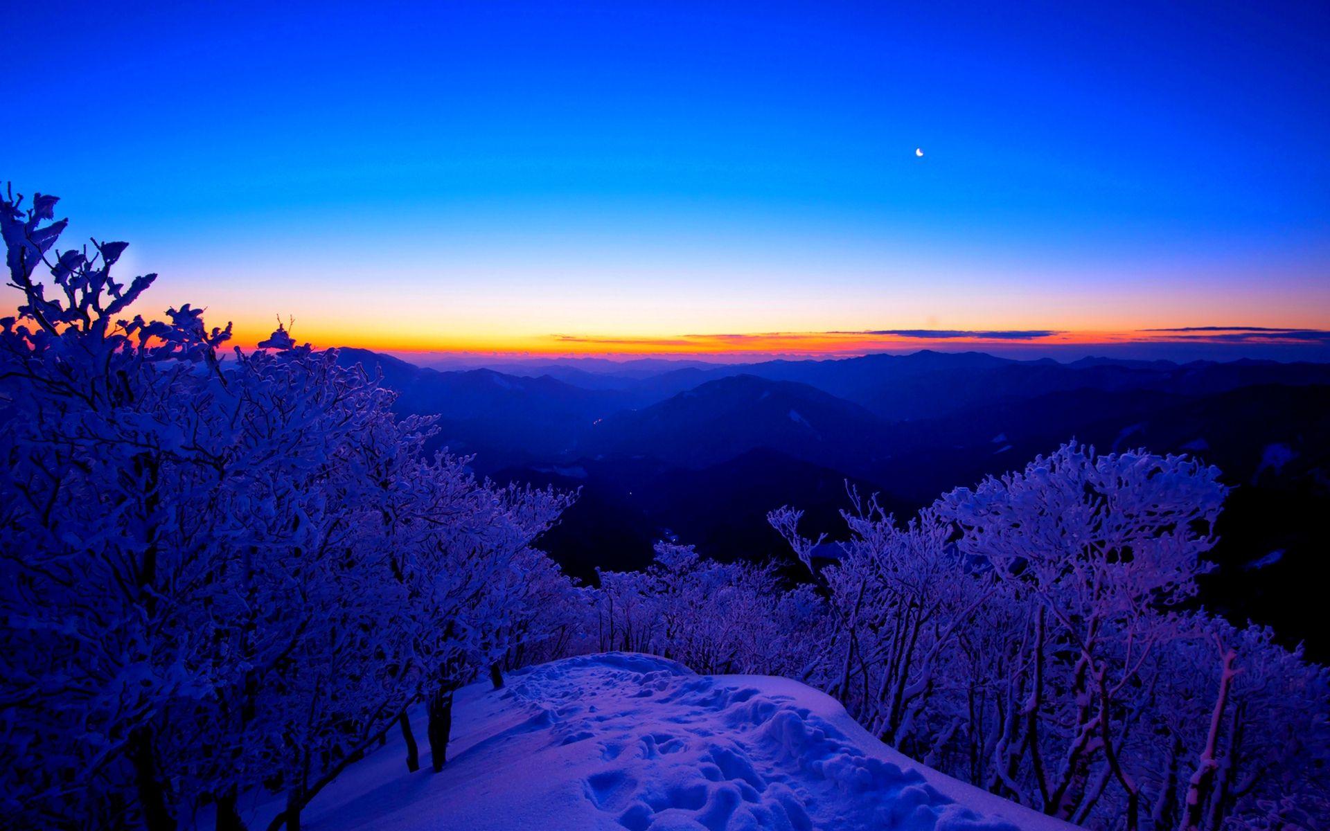 Winter Sunset Desktop Backgrounds Winter sunset