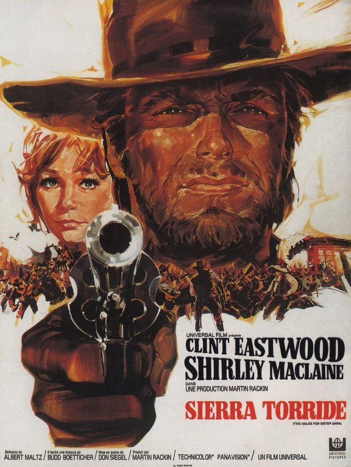 Dos Mulas Y Una Mujer 1970 Póster De Cine Películas Del Oeste Poster De Peliculas