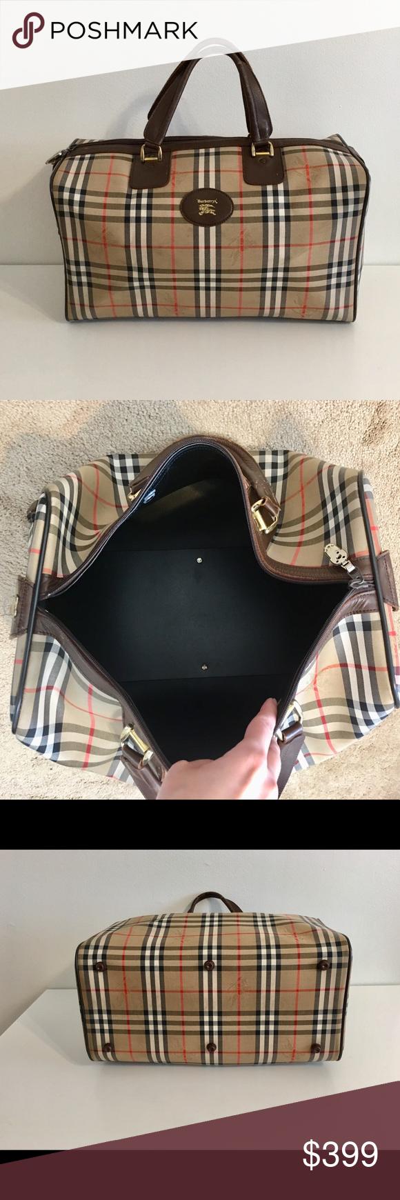 Authentic Burberry travel bag Authentic Burberrys unisex travel bag.  Classic nova check canvas w brown 8db82e2417d0b