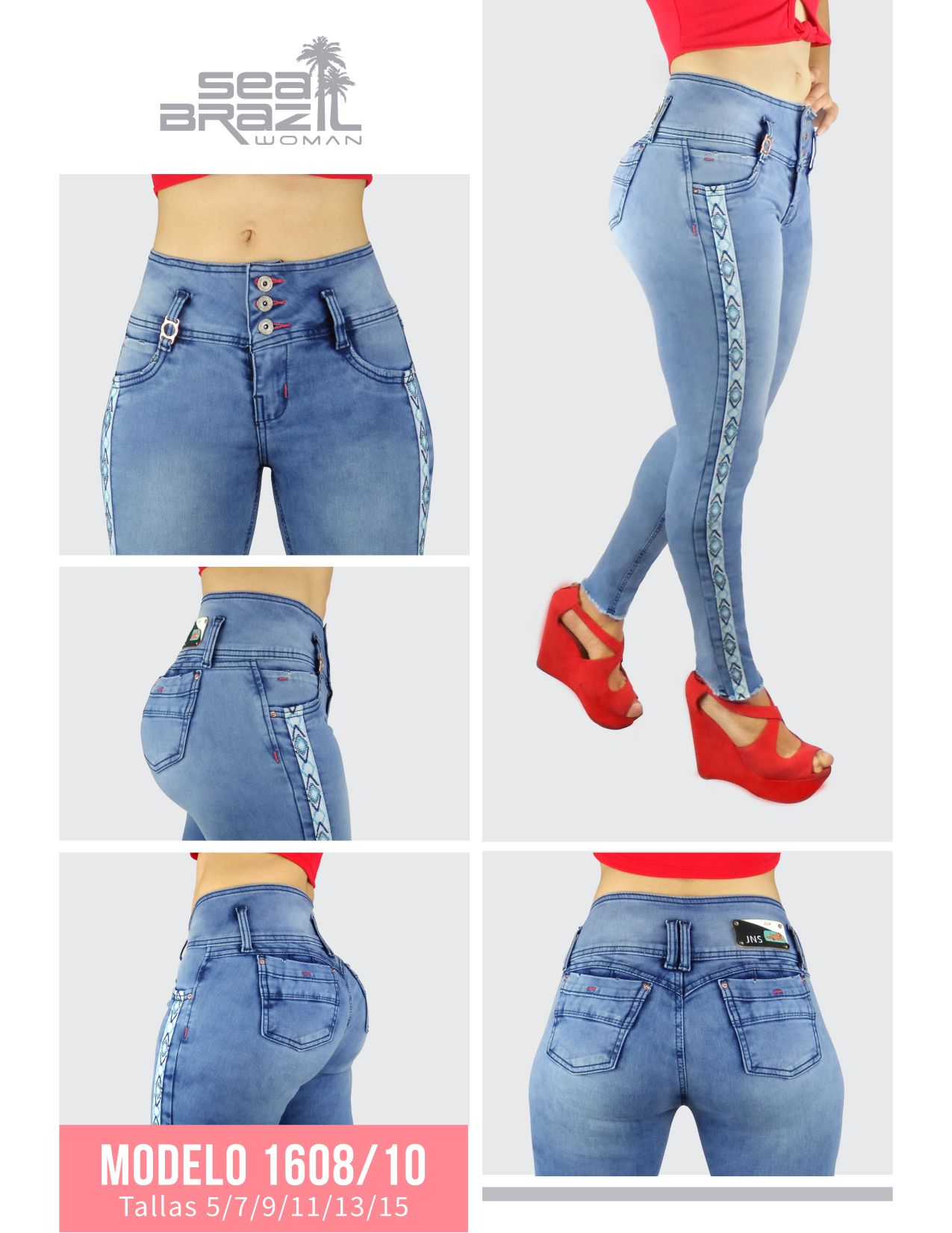 Jeans Modelo 1608 Colored Jeans Fashion Jeans