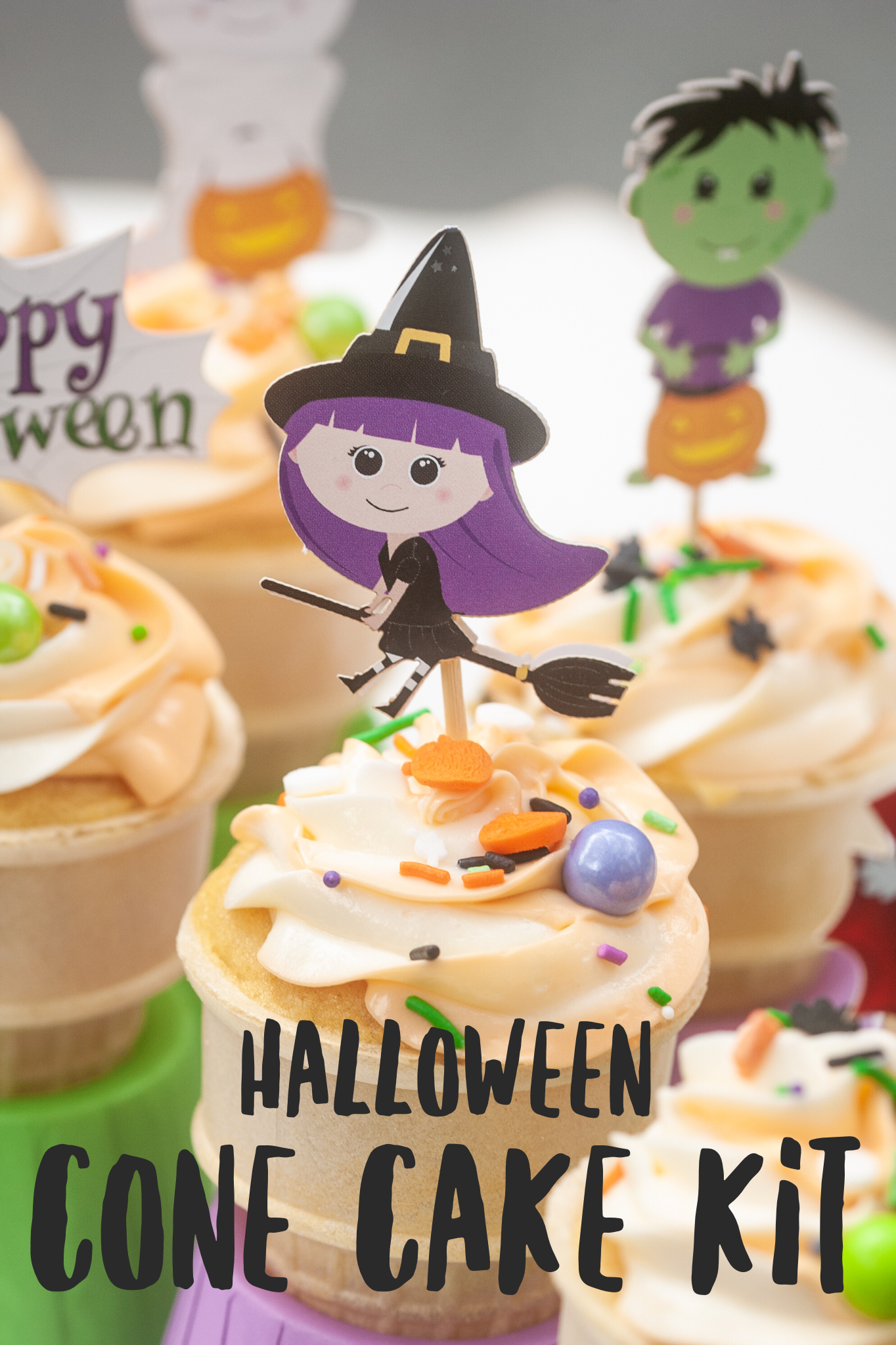 Halloween Cone Cake Kit Party Pack Yippee Cone Cakes Cake