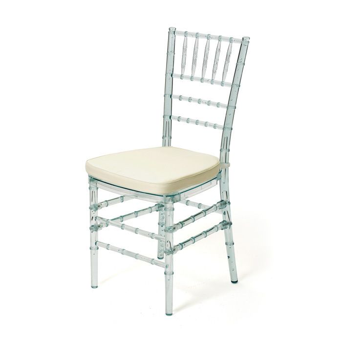 CLEAR ACRYLIC, Faux Bamboo Chairs. Ridiculous, But I Kind Of Love Them.
