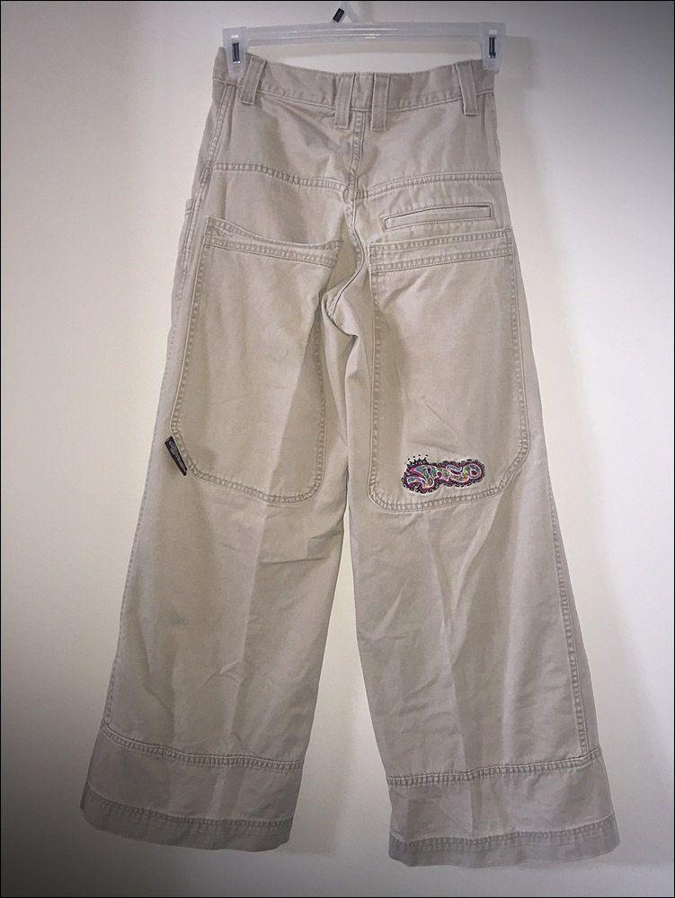 2c00aa1b66 Vintage 90's Jnco Jeans 28 x 30 Graff Khaki Carpenter Pants w/ 26