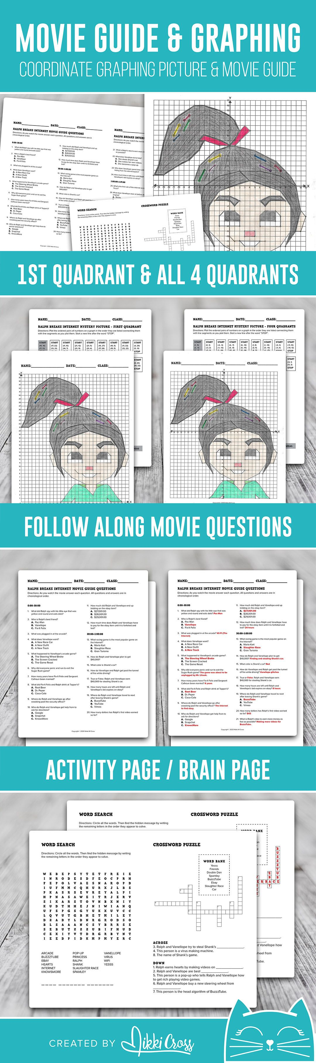 Movie Math Coordinate Graphing Picture Amp Movie Guide
