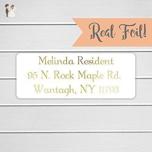 gold or color foil wedding invitation return address labels wedding