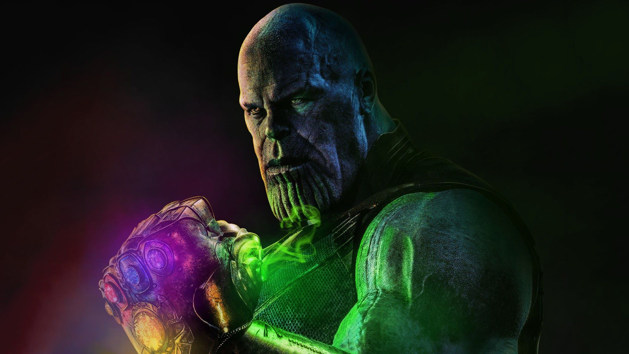 Thanos With Gauntlet Infinity Stones