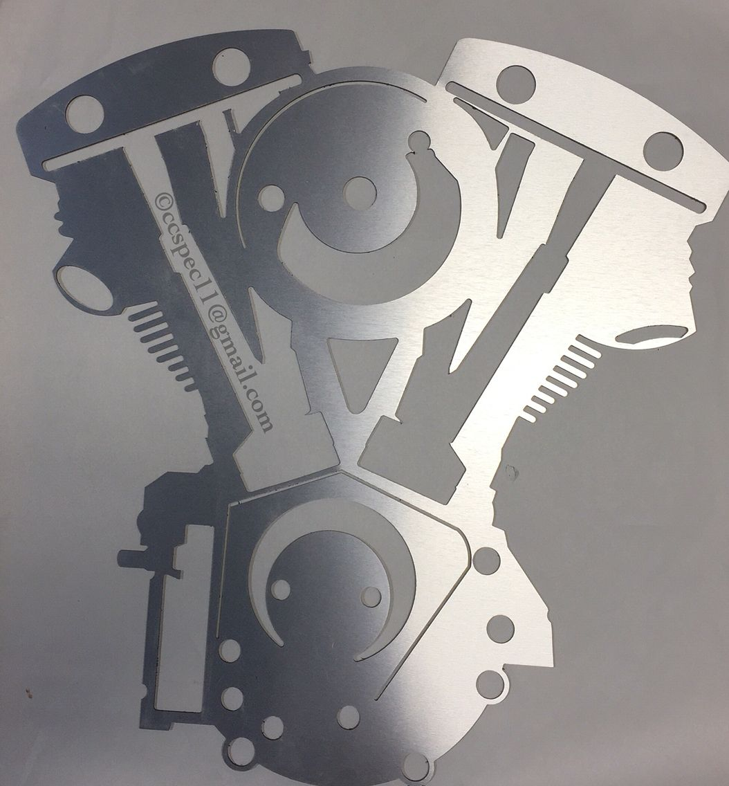 V Twin Harley Custom Metal Wall Decor Wholesale Unfinished