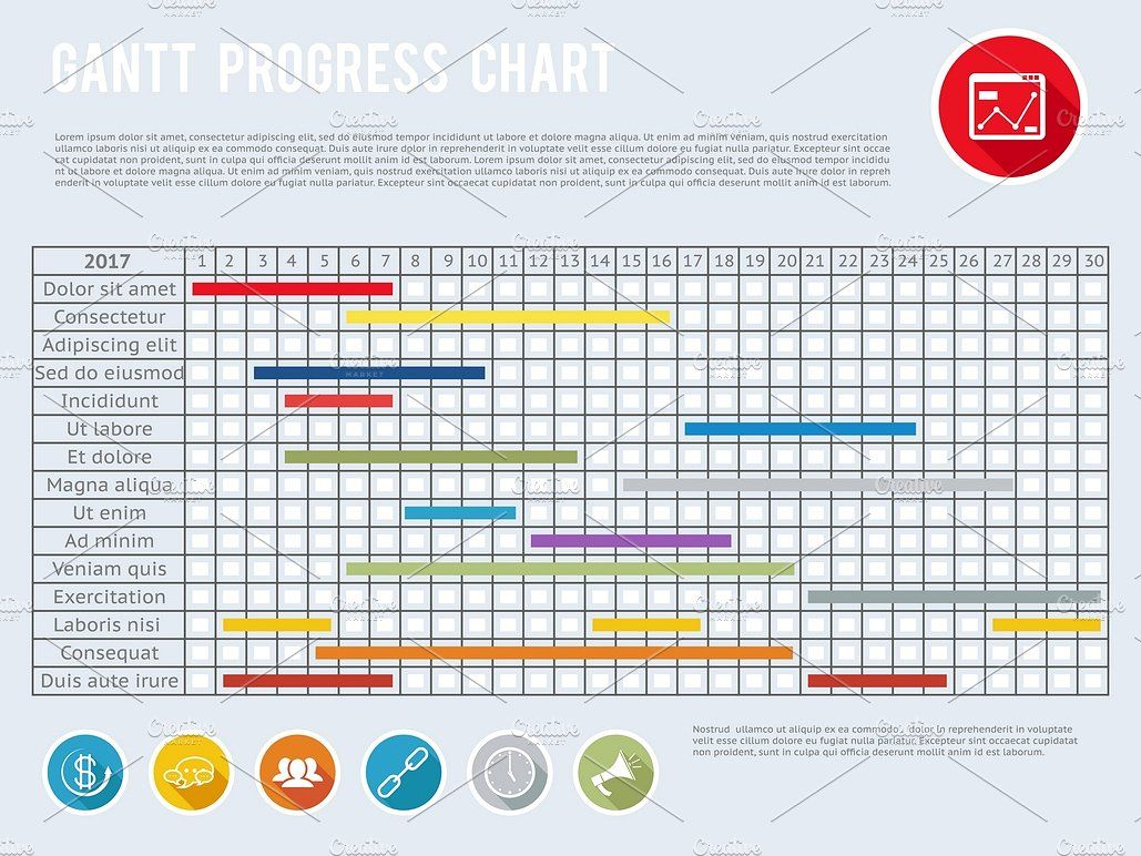 Project Schedule Chart Progress Charting Timeline Design