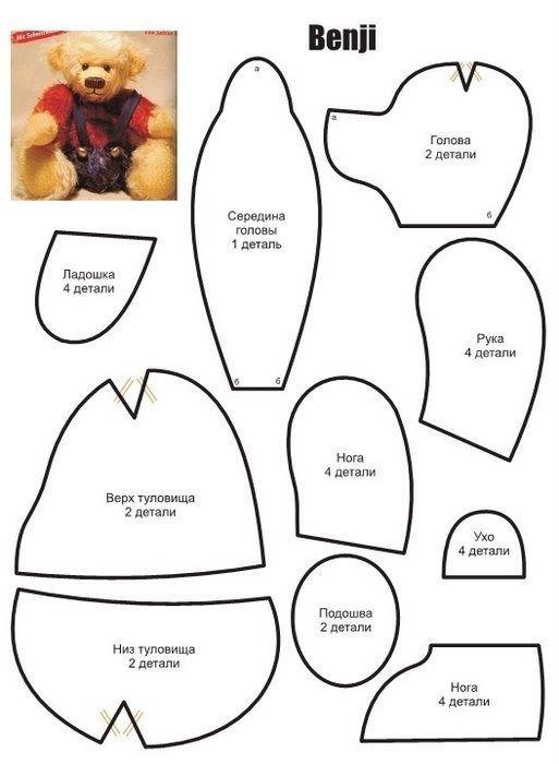 Patrones de osos de peluche | Osos | Pinterest | Osos, Patrones de ...