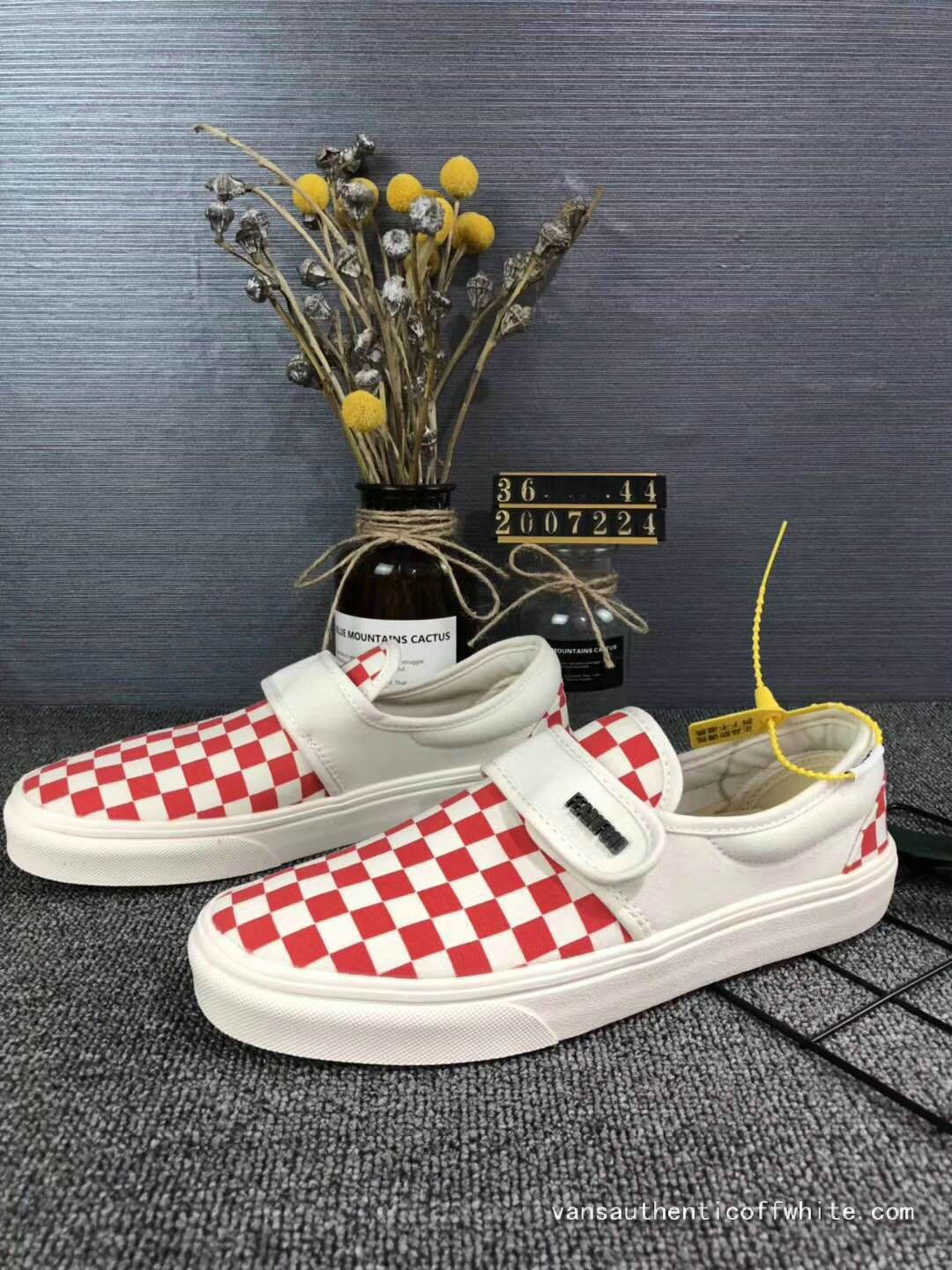 06383dbc196 Vans Slip On 47 DX YC24 Red White Checkerboard Skate Shoe For Sale ...