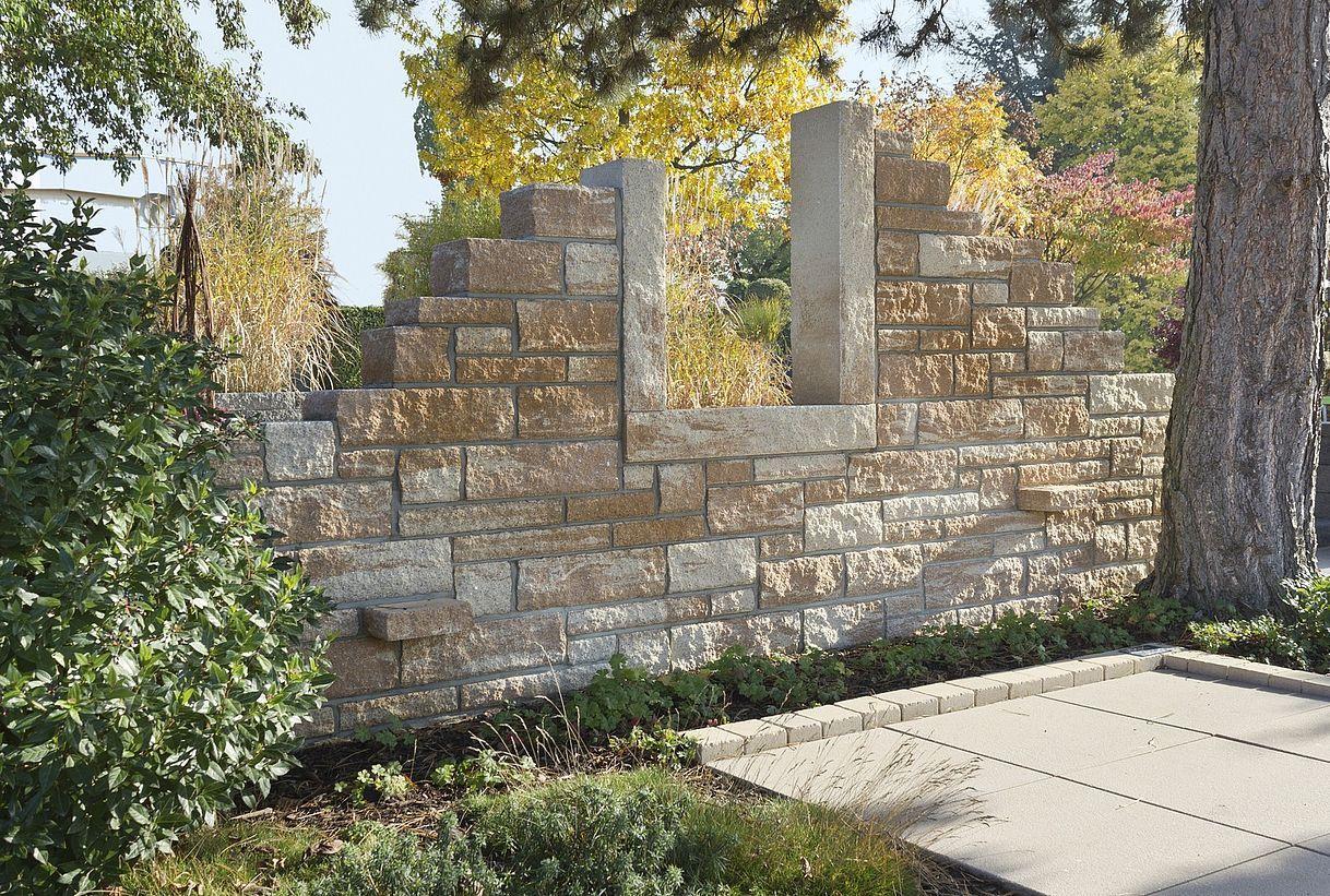 Toskana Steinmauer garten, Gartenmauern, Garten