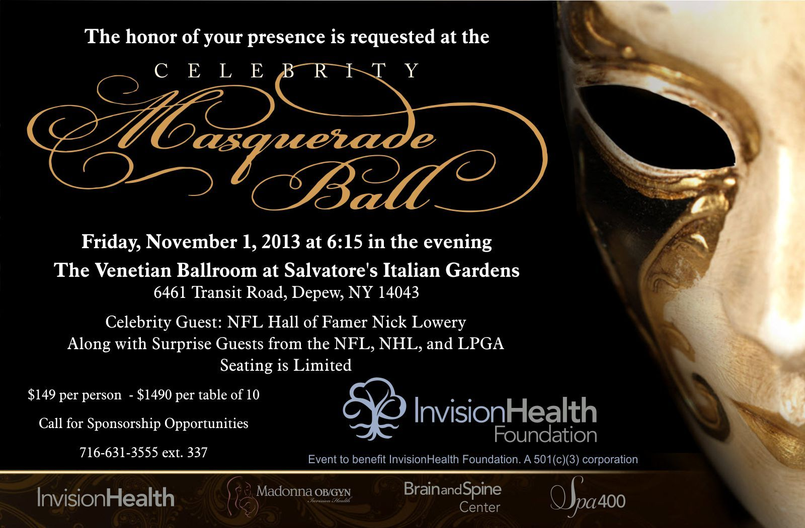 Images For Blank Masquerade Ball Invitations Event Planning