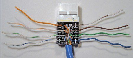 completed cat5e ethernet jack wire punchdown projects to try in DSL Wall Jack Wiring