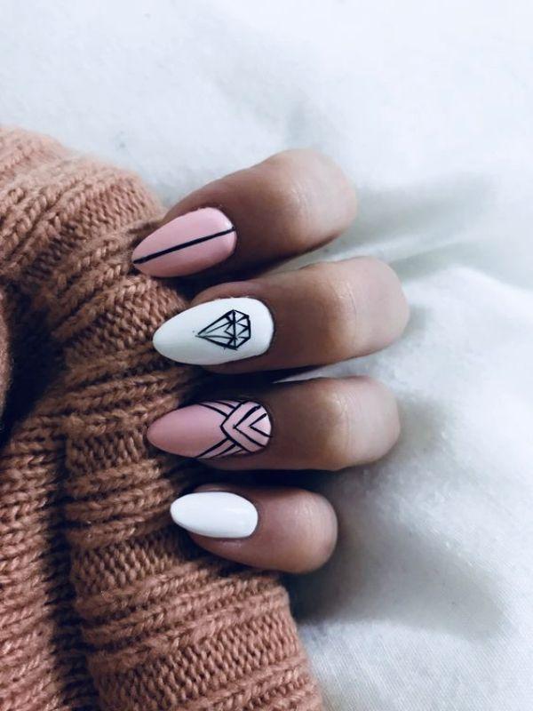 50 diseños y colores de uñas de tendencia para 2019: cálculo de infinito - sandy