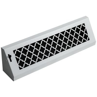 Steelcrest Tuscan 24 In White Powder Coat Steel Baseboard Vent