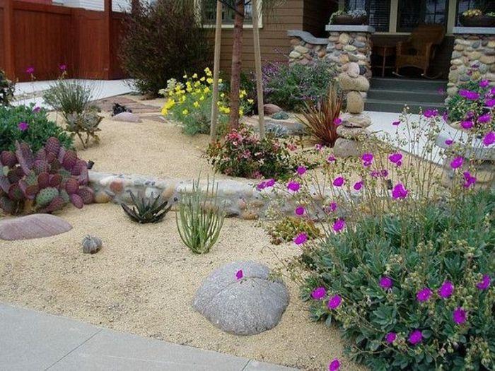 Ideen für Kiesgarten anlegen garten Pinterest Kiesgarten - ideen gestaltung steingarten