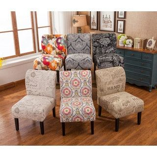 shop for capa fabric armless contemporary accent slipper chair get